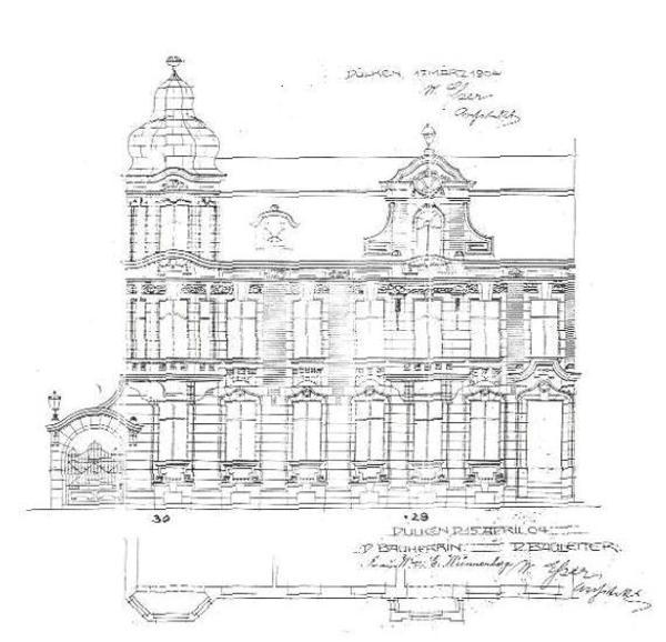 Originalzeichnung Bauplan